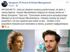 """To już pewne Pochodzący z Lęborka aktor Kacper Młynarkiewicz zagra w serialu """"Barwy Szczęścia&q"""